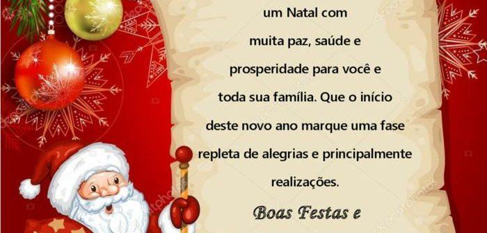 Mensagem de Natal e de Fim de Ano aos Associados